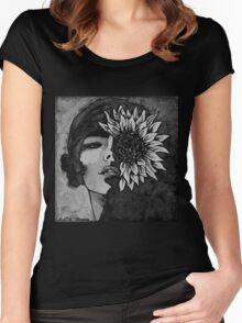 Sunflower Girl Women's Fitted Scoop T-Shirt