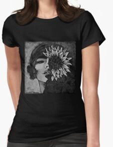 Sunflower Girl Womens Fitted T-Shirt