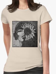 Sunflower Girl Womens Fitted T-Shirt