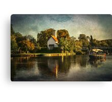 The River At Goring on Thames Canvas Print