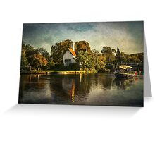The River At Goring on Thames Greeting Card