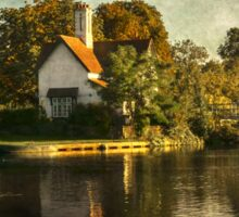 The River At Goring on Thames Sticker