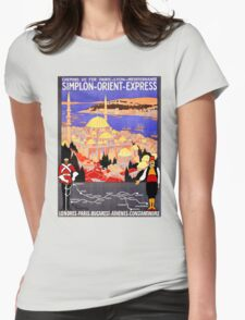 Vintage Simplon Orient Express London Constantinople Womens Fitted T-Shirt