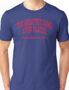 The Greatest Game Ever Played Unisex T-Shirt