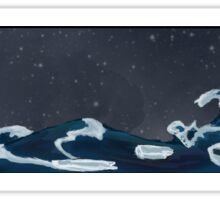 Night ocean Sticker