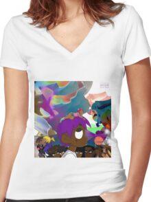 uzi vs the world Women's Fitted V-Neck T-Shirt