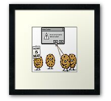 DELETE THE COOKIES Framed Print