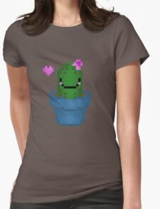 Cute Pixel Cactus Womens Fitted T-Shirt