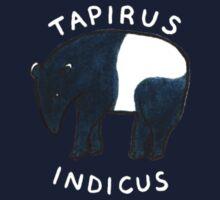 Tapirus Indicus (White Lettering) Kids Tee