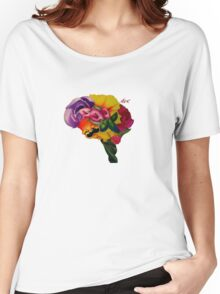 Floral Brain Women's Relaxed Fit T-Shirt
