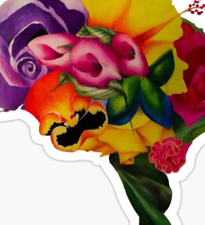 Floral Brain Sticker