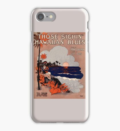 1916 Vintage Hawaii blues sheet music cover  iPhone Case/Skin