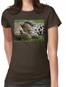 Kitty Cuddles Womens Fitted T-Shirt
