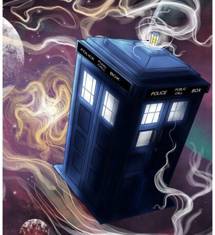 TARDIS In The Time Vortex Sticker