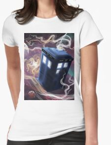 TARDIS In The Time Vortex Womens Fitted T-Shirt