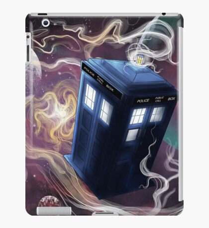 TARDIS In The Time Vortex iPad Case/Skin