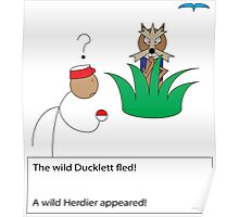 A Wild Herdier Appeared! Poster