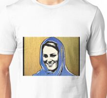 Kate Middleton in gold and blue Unisex T-Shirt
