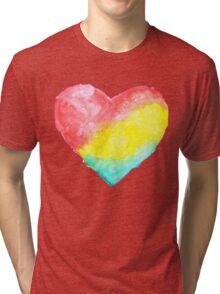 cute watercolor heart Tri-blend T-Shirt