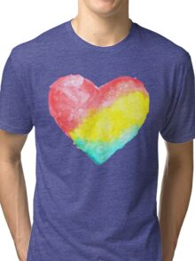 cute watercolor heart Tri-blend T-Shirt