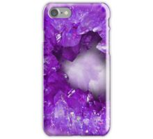 Amethyst purple heart shaped crystals geode iPhone Case/Skin