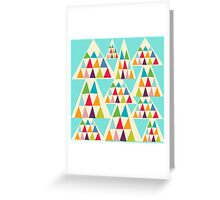Geometeric Multicolor Triangle Pattern Greeting Card