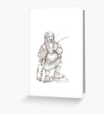 Smoking Dwarf Greeting Card