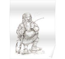 Smoking Dwarf Poster