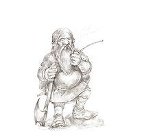Smoking Dwarf Photographic Print