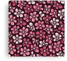 beautiful pink floral pattern Canvas Print