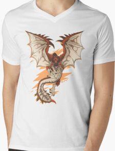 MONSTER HUNTER - Rathalos - Mens V-Neck T-Shirt