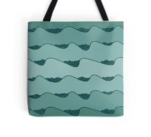 blue waves hand drawn pattern Tote Bag