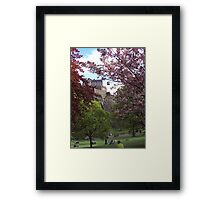 A Lovely Day at the Gardens Framed Print