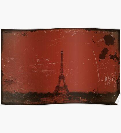 Paris Eiffel Tower Vintage Poster