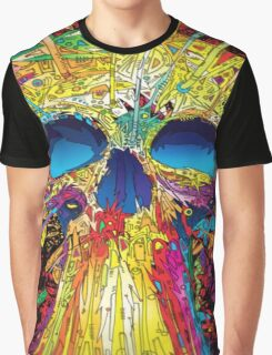 Colorful Skull Graphic T-Shirt