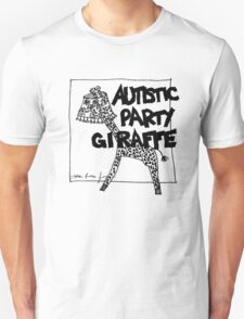 Autistic Party Giraffe Unisex T-Shirt