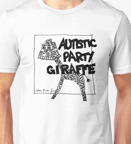 Autistic Party Giraffe Unisex T-Shirt