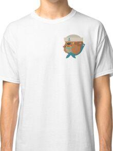 Flat Design Bulldog Sailor Classic T-Shirt