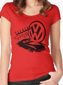 Karmann Ghia Graphic Women's Fitted Scoop T-Shirt