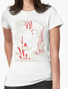 Abstract 138-WALL ART+Product Design Womens Fitted T-Shirt