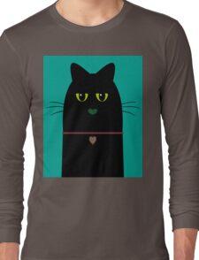 BLACK CAT PORTRAIT #3 Long Sleeve T-Shirt