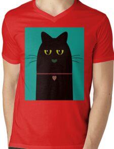 BLACK CAT PORTRAIT #3 Mens V-Neck T-Shirt