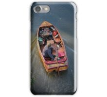 Boat man River Thames iPhone Case/Skin