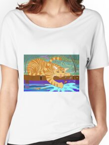 Cat Fishing Sort Of Women's Relaxed Fit T-Shirt