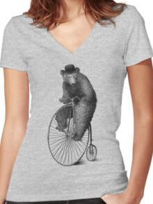 Morning Ride Women's Fitted V-Neck T-Shirt