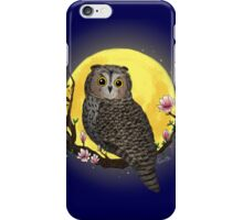 Owl in front of the Moon iPhone Case/Skin