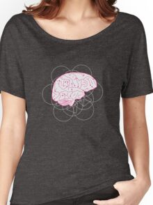 Human brain illustration. Cognitive science Women's Relaxed Fit T-Shirt