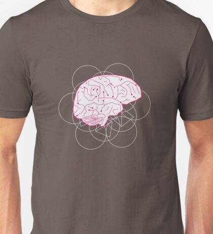 Human brain illustration. Cognitive science Unisex T-Shirt