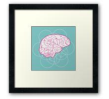 Human brain illustration. Cognitive science Framed Print