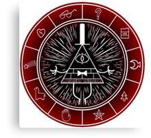 Gravity Falls - Dark Bill CIpher Wheel Canvas Print